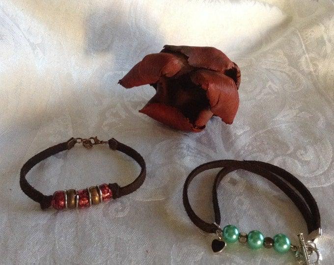 BoHo Bracelets..ceramic and glass beads