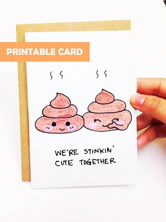 Funny anniversary card, cute anniversary card, funny love card, cute ...