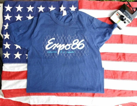 vintage expo t shirt vancouver 80s tshirt vancouver canada