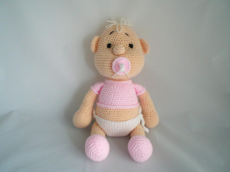 Crochet Amigurumi For Baby : Crochet doll new baby soft toy amigurumi
