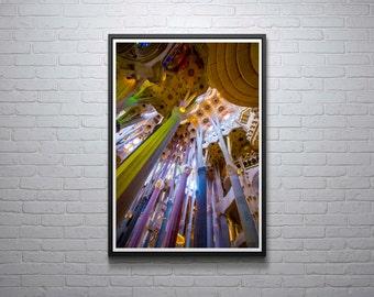 La Sagrada Familia, Barcelona, Spain, Catalan Architecture, Gaudi, Photograph, Print, Travel Photography, Wall Art