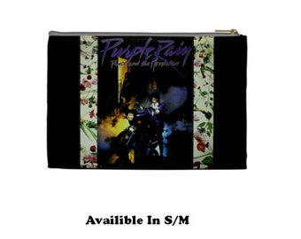 Prince Cosmetic Bag, Cosmetic Bag, Make Up Bag, 80's, 80's films,  purple rain,