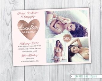 Boudoir mini session, boudoir mini, valentine's day mini session, valentine's day boudoir, mini session template, photographers, Photoshop