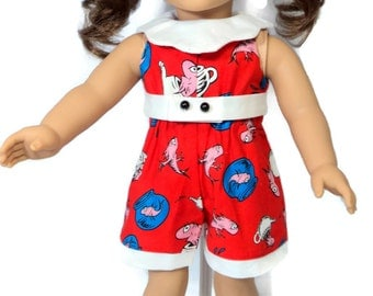 Short Jumpsuit for American Girl and 18 inch Dolls