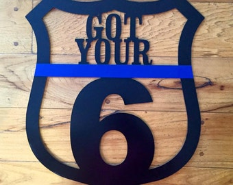 "22"" Metal We've Got Your Back Door Hanger"