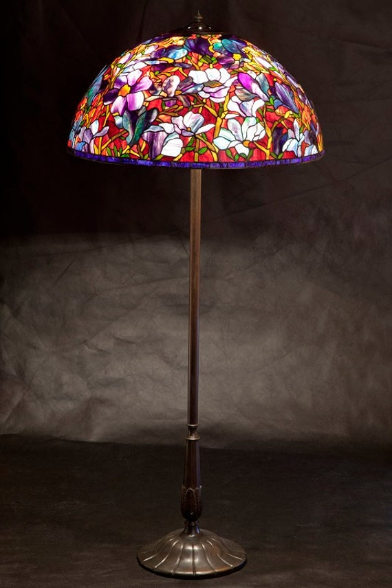 "28"" Magnolia floor lamp"