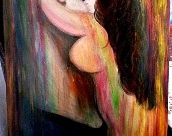 "Acrylic Painting ""Desire"""