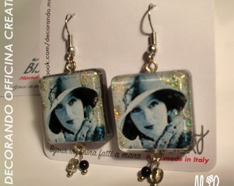 Earrings Greta Garbo