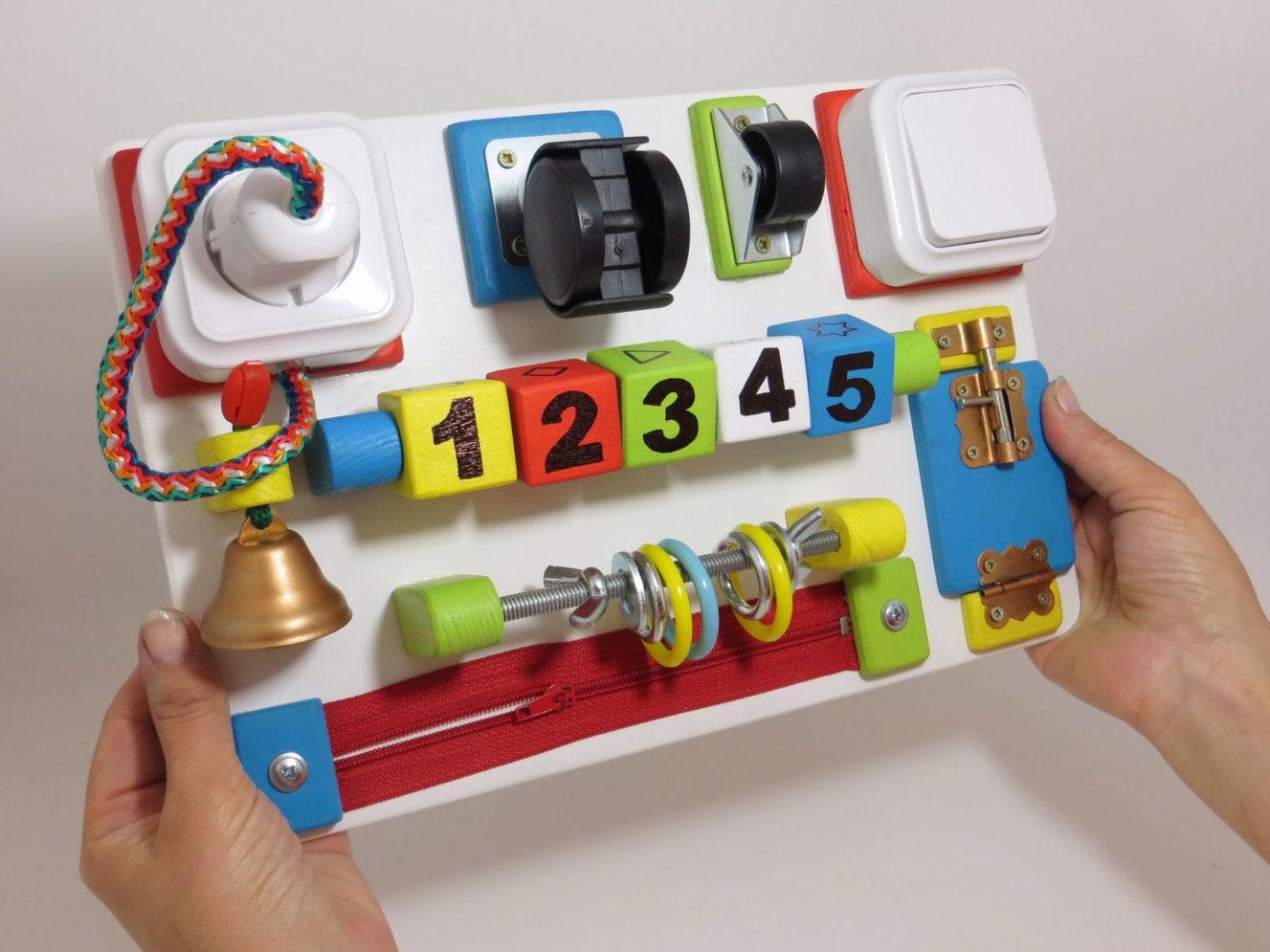 Fine Motor Toys : Fine motor skill sensory board busy by linearahandmade