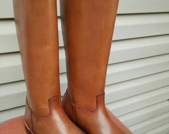 Women Tall Riding Boots, Leather Equestrian Boots, Made to Order, Leather Riding Boots, English Riding Boots, Made to Measure Riding Boots.