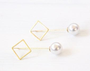Wire Earrings, Threader Earrings, Thread Earrings, Minimalist Jewelry, Geo Threader Earrings, Geo Wire Earrings, Earrings, Threader Jewelry