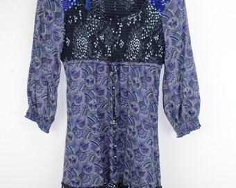 Vintage Beautiful summer dress women's clothing .colorful floral pattern Frauen Mode Designer Second Hand 60