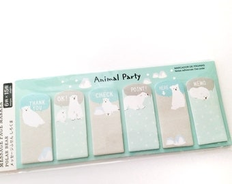 Polar Bear Page Flags • Sticky notes • Planner page flags • Page markers