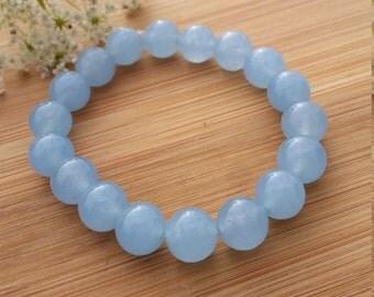 Aquamarine Bracelet 10mm