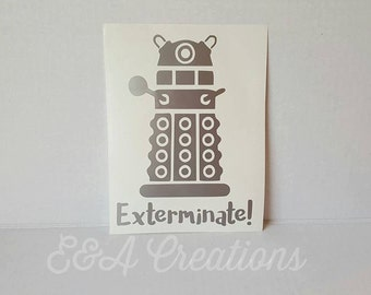 Doctor Who Dalek inspired Decal - Whovian Decal - Car Decal - Gift for Whovain - Doctor Who inspired car decal