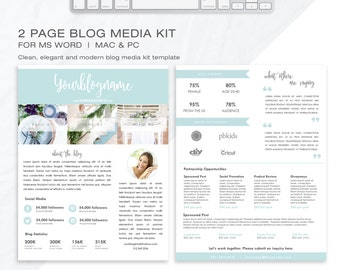 Influencer media kit template blog media kit press kit media kit template 2 page blog media kit press kit template electronic press pronofoot35fo Image collections