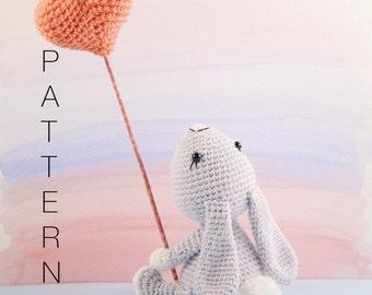 Amigurumi crochet cute bunny rabbit - Pippin the bunny rabbit PATTERN ONLY (English)