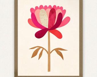 Pink Peony - Printable Art (8x10)