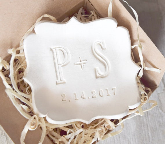 wedding ring dish personalized ring holder custom initials