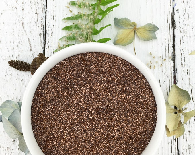 CLOSEOUT!  CHOCOLATE Brown Biodegradable Glitter: ECO Friendly Cosmetic Glitter