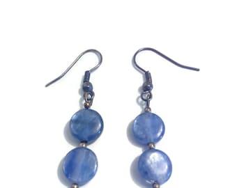 """Kyanite"" pendant earring"