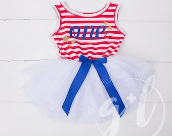 Fourth of July dress, First 4th of July Outfit,  4th of July outfit 4th of July Dress, Red White and Blue, First Birthday 4th of July