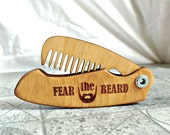 Personalized Wooden Beard Comb Folding beard comb Mustache Comb Groomsmen Gift ideas for him Mens Gift for boyfriend Valentine gifts for men