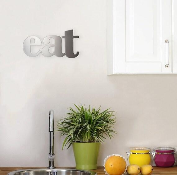 eat metal kitchen decor sign