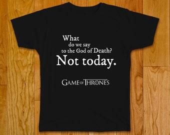 "Game of Thrones T-shirt ""Not Today"", Arya Stark, Syrio Forel"