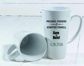 Custom 17 oz latte mug > My design mug > Save the date mug > Custom mug  > personalized Mugs > Personalized mug with Your Photo > custom mug