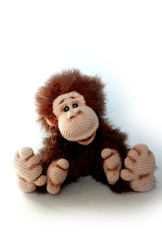 Crochet Monkey Orangutan Crochet Toy Handmade Monkey Toy