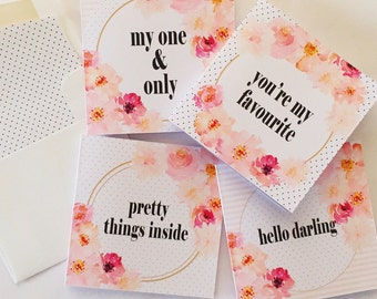 Posie Set of 4 Greeting Cards
