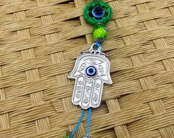 Evil Eye Keychain - Hamsa Hand Keychain - Hamsa - Hand of Fatima - Nazar Protection - Turkish Evil Eye - Home Goods - Perfect Gift