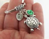 Turtle keychain, sea turtle key chain, seaturtle keyring, turtle key ring, beach accessories, car key ring, car accessories, tortoise charm