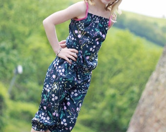 Marlie's Romper. PDF sewing patterns for girls sizes 2t-12