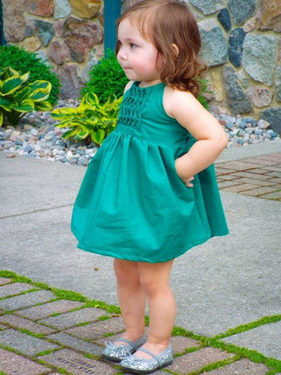 Baby Cora's Wave pleat bodice Top, Dress & Maxi. PDF sewing pattern for baby sizes NB- 24 months