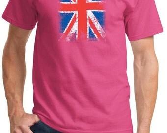 Distressed Union Jack Adult Tee T-Shirt UNIONJACK-PC61