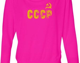 CCCP Insignia Ladies Off Shoulder Tee T-Shirt INSIGNIA-8850