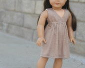 Tan/Beige Sundress for American Girl Dolls