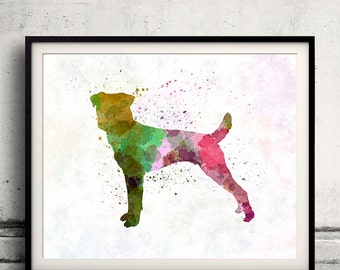 Parson Russell Terrier in watercolor 8x10 in. to 12x16 in. Fine Art Print  Poster Decor Home Watercolor Illustration - SKU 1269