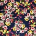 Watercolour floral fabric, roses and tulips fabric, cotton sateen, dressmaking fabric, craft fabric, fat quarter, fabric by the yard