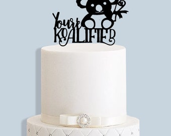 Your'e Koalified Graduation Cake Topper
