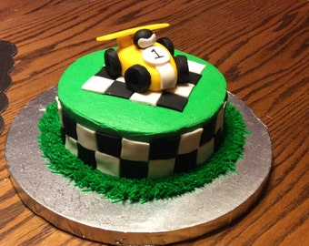 Race Car Cake Topper birthday party fondant edible car drag racing NASCAR birthday party