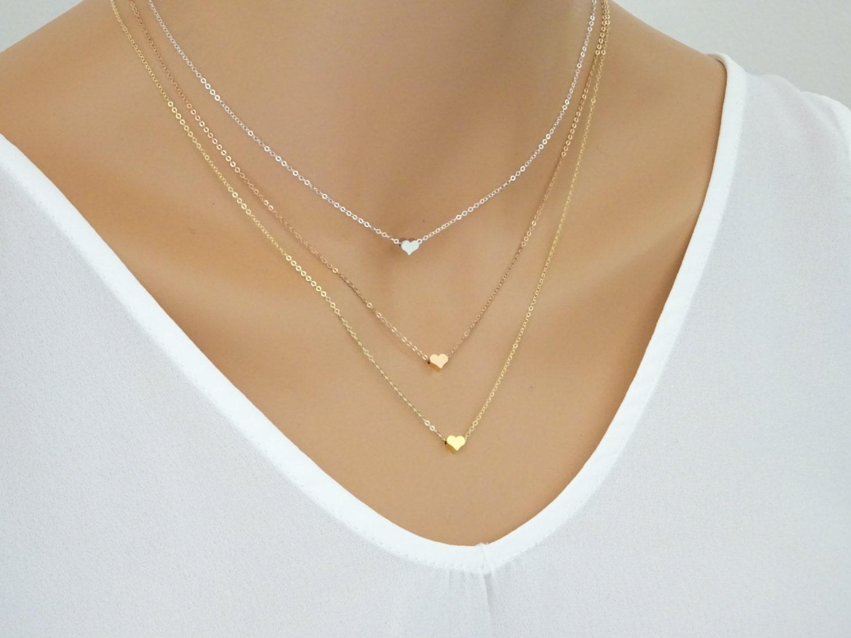 Heart Necklace Heart Pendant Dainty Heart Charm Jewelry