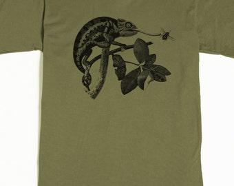 Men's T-shirt - Chameleon Shirt - Lizard Tshirt - Lizard Graphic Tee Shirt