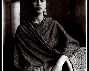 Frida Kahlo 1930 Photograph by Imogen Cunningham, Vintage 1990 Book Page Plate, Ready To Frame