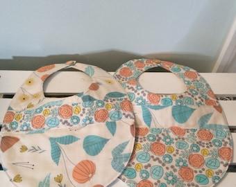 Organic Baby Bib, Organic Drool Bib, Baby Shower Gift, Baby Gift