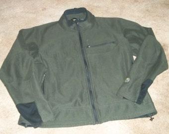 SALE Vintage Mountain HardWear Moss Green Corded Fleece Jacket XL