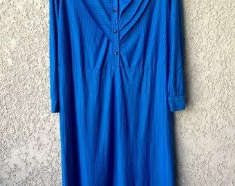Bright blue striped dress