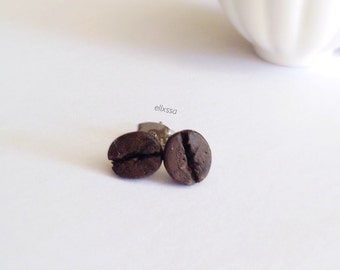 Miniature Coffee Bean Earrings